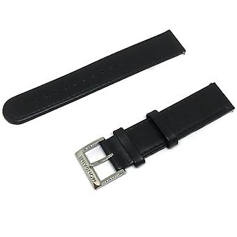 Authentic mondaine watch strap black calf leather 18mm fe311820q5