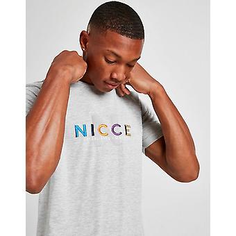 New Nicce Men's Monta Short Sleeve T-Shirt Grey