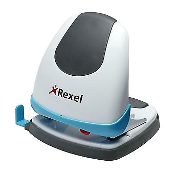 Rexel 2 Hole Punch EasyTouch Low Force - 30 Sheet Capacity - White/Blue