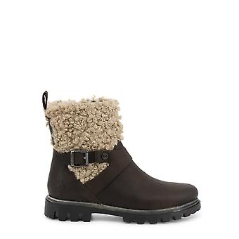 Us polo assn. 4072w9 women's leather synthetic fur ankle boots