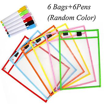 Transparent Dry Brush Bag Can Be Reused With Pvc Pet Writing, Dry Wipe Bag