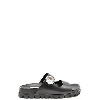 Miu Miu Ezbc057025 Women's Black Leather Sandals
