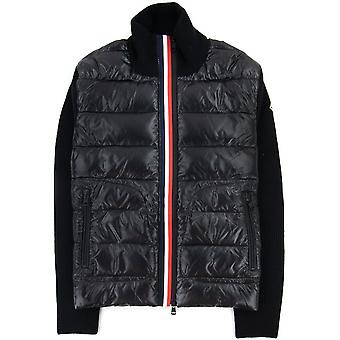 Moncler Maglione Tricot Card Cardigan Negro