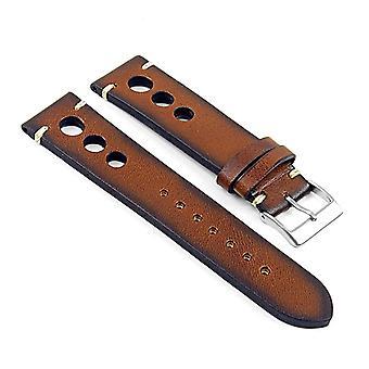 Strapsco dassari maranello hand finished vintage italian leather rally strap