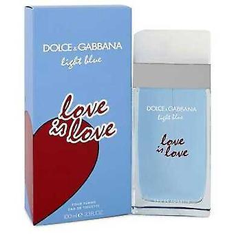 Light Blue Love Is Love By Dolce & Gabbana Eau De Toilette Spray 3.3 Oz (women) V728-551880