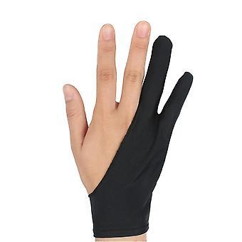 2本指のタブレットスタイラスペン手袋は、アンチタッチ汗防止防止ファウルを描く
