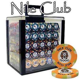 1000 Ct Standard Breakout Nile Club Chip Set - Acrylic Case