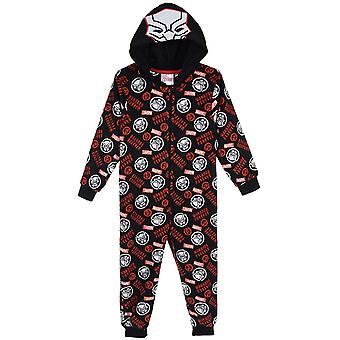 Boys TH2157 Marvel Avengers Hooded Fleece Sleepsuits / One Piece Pyjamas