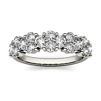 Forever One 3.0mm Runde Moissanite Anniversary Band, 1.20cttw DEW