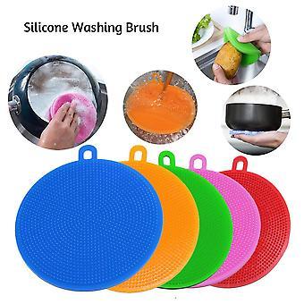 Dishwashing Sponge Silicone Cleaning Brush Multi-functional Fruit Vegetable Cutlery Kitchen tools Kitchenware Brushes