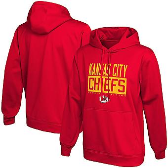 Män & apos; s Kansas City Chiefs Red Pullover Hoodie Lös Hooded Tröja 3WY244