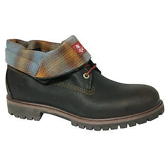 Timberland AF Roll Top Nahka Kangas Miesten Saappaat Ruskeat Taitettavat kengät A11S5 D4