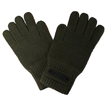 Puma Knitted Unisex Mens Womens Wooly Acrylic Shaw Gloves Khaki 040661 03 A187C