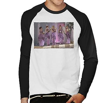 Bridesmaids Bridal Party Wedding Stage Men's Baseball Long Sleeved T-Shirt