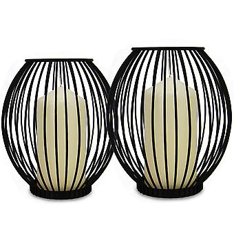 Cage Candle Holders - Set of 2 | M&W