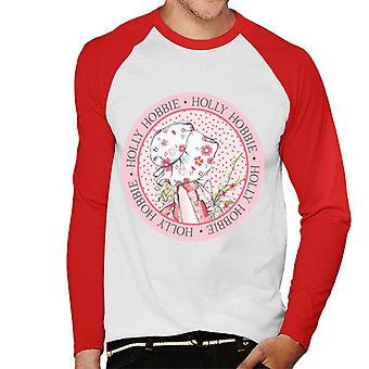 Holly Hobbie Circle Miesten's Baseball Pitkähihainen T-paita