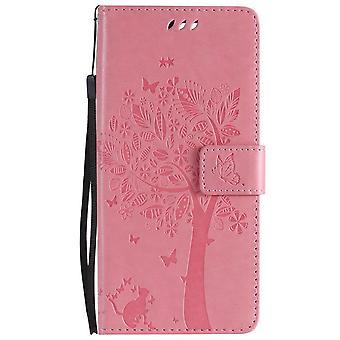 Pu Leder Flip Case + Brieftasche Abdeckung für Samsung