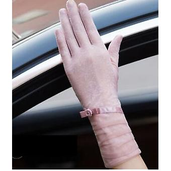 Spring And Summer Women's Lace Sunscreen Gloves, Lady's Anti-uv Slip-resistant