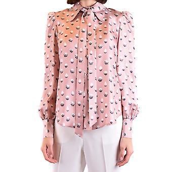 Marc Jacobs Ezbc062060 Blusa di seta rosa femminile