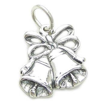 Bells Sterling Silver 2d Charm .925 X 1 Wedding Bell Charms - 3239