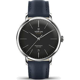 VOTUM - Reloj Unisex - VINTAGE AUTOMATIC - VINTAGE - V08.10.10.02 - correa de cuero - azul