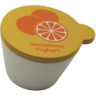 Bakje Sinaasappelyoghurt Hout 4 Cm Wit / Oranje