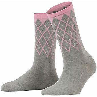 Burlington Mayfair Socken - Hellgrau/Pink