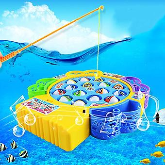 Music Rotating Board 4 Fishing Poles Game  (random Color)