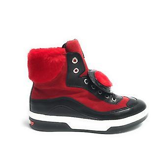 Zapatos de mujer Zapatilla Alto Amor Moschino Cuero Negro / Inserción Roja Eco-cuero D18mo21