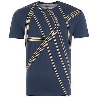 Armani Exchange Graphic AX Print T-Shirt - Dark Iris