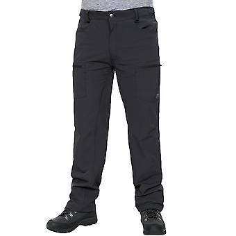 Trespass Mens Tuned Quick Dry Outdoor Walking Hiking Cargo Trousers - Black