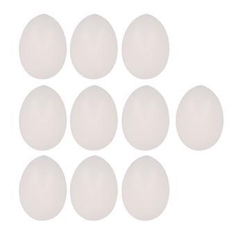 Protable Vaste Plastic Eieren Dummy Eieren Duiven Prop Gag Voor Goochelaar 10st Wit