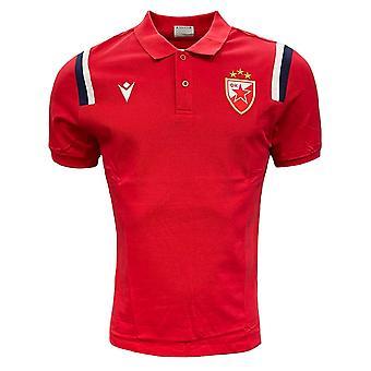 2020-2022 Röda Stjärnan Belgrad Polo Shirt (Röd)