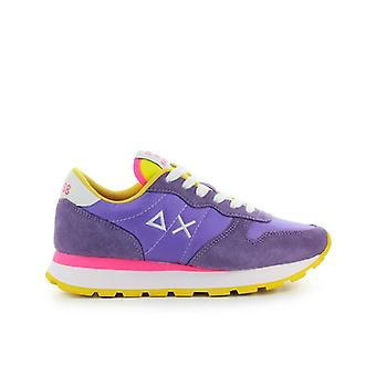 Sun68 Ally Solid Nylon Lilac Yellow Sneaker