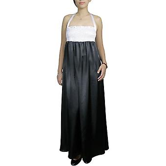 Chic Star Smocked Halter Maxi Dress In Black