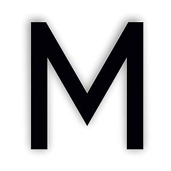 アルファベット文字キャビアフォントアクリルミラーまたはブラックアクリルドアサイン - M