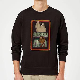 Scooby Doo Retro Ghostie Merchandise Long Sleeve Sweatshirt Jumper Top - Black