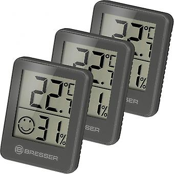 thermometer Temeo Hygro58 mm grey 3 pieces