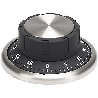 time switch clock magnetic 9.4 x 9.4 cm stainless steel black/silver