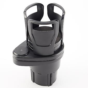 Swotgdoby Abs Multifunctional Car Cup Holder - Vehicle-mounted Water Cup Drink Holder Universal Car Dual Cup Mount Extender Organizer With 360° Rotat