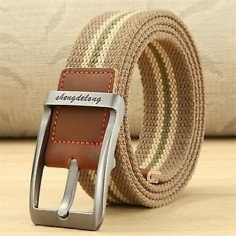 Unisex Canvas Belt Outdoor Tactical Belt For Jeans