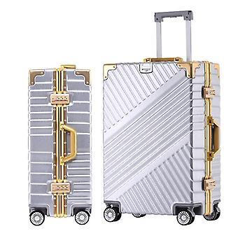 الرجال الألومنيوم المتداول الأمتعة، حقيبة عربة السفر