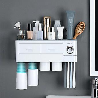 Pölytiivis hammasharjateline Suuren kapasiteetin hammastahnan säilytys Kylpyhuoneen lisävarusteet