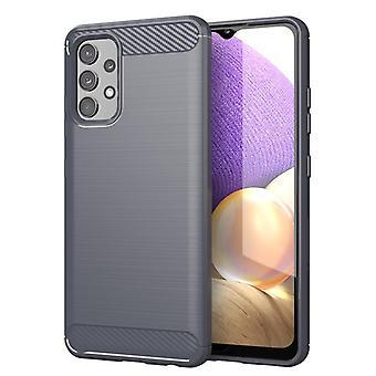 Tpu carbon fibre case for samsung a32 5g grey mfkj-852