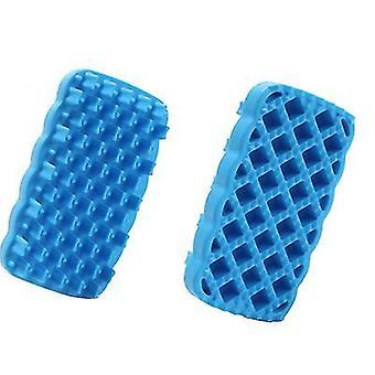 2Pcs orange baby teething molar silicone sticks and chewable rattle circle shower toy az1000
