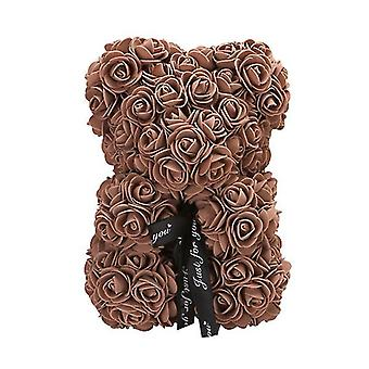 कॉफी वेलेंटाइन डे गिफ्ट 25 सेमी गुलाब भालू जन्मदिन का उपहार £ स्मृति दिवस उपहार टेडी बियर az17176