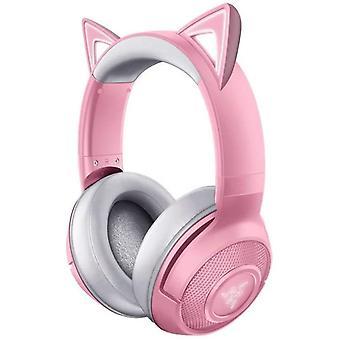 Bezprzewodowy zestaw słuchawkowy do gier Razer Kraken Bluetooth Kitty (bezprzewodowe słuchawki nauszne Cat z oświetleniem Chroma RGB, mikrofonem do kształtowania wiązki, głośnik 40mm), kwarcowy / różany