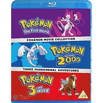 Pokemon Film 1-3 Samling Blu-ray