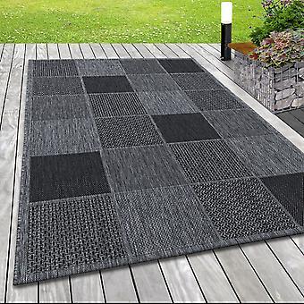 Tappeto esterno interno Sisal Optics Terrazze Tappeto Plaid Tessitura Modello Disegno Grigio