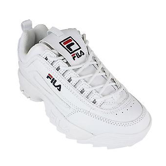 Fila disruptor ii white navy red - calzado mujer